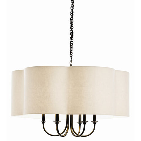 Rittenhouse Chandelier in Eggshell and Bronze by Arteriors Home 89421 and 89418