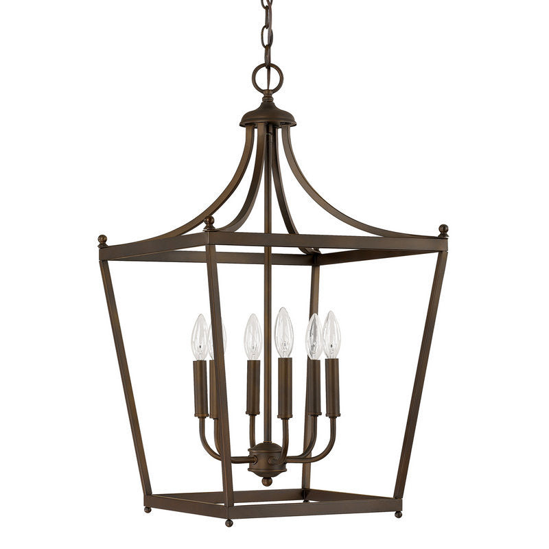 Capital Lighting 6 Light Medium Stanton Pendant in Burnished Bronze 9552BB
