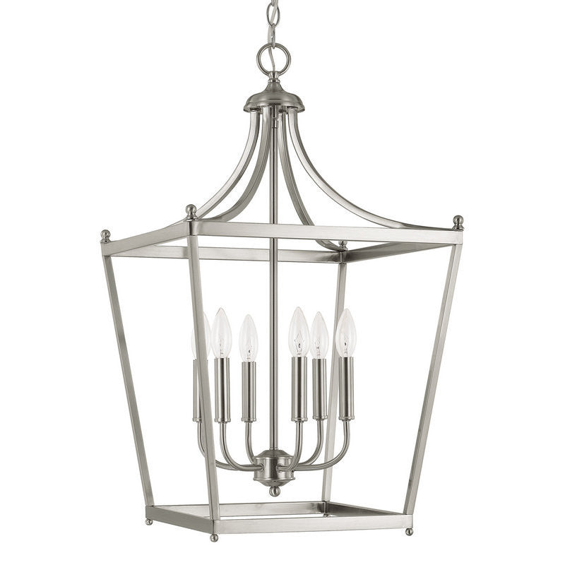 Capital Lighting 6 Light Medium Stanton Pendant in Polished Nickel 9552PN