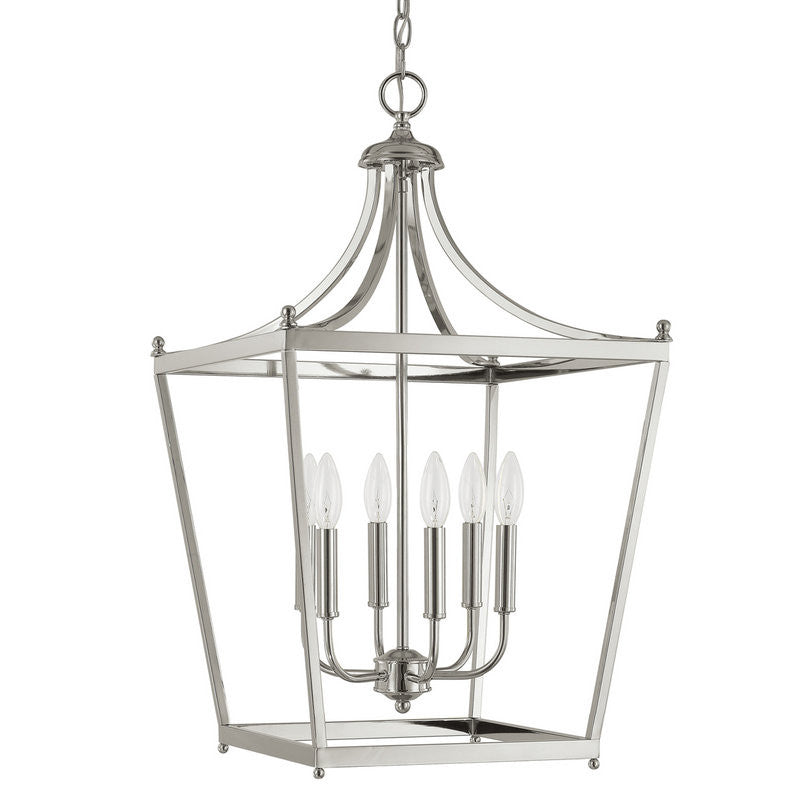 Capital Lighting 6 Light Medium Stanton Pendant in Brushed Nickel 9552BN
