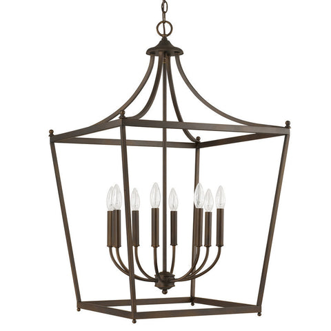 Capital Lighting 8 Light Large Stanton Pendant in Burnished Bronze 9553BB