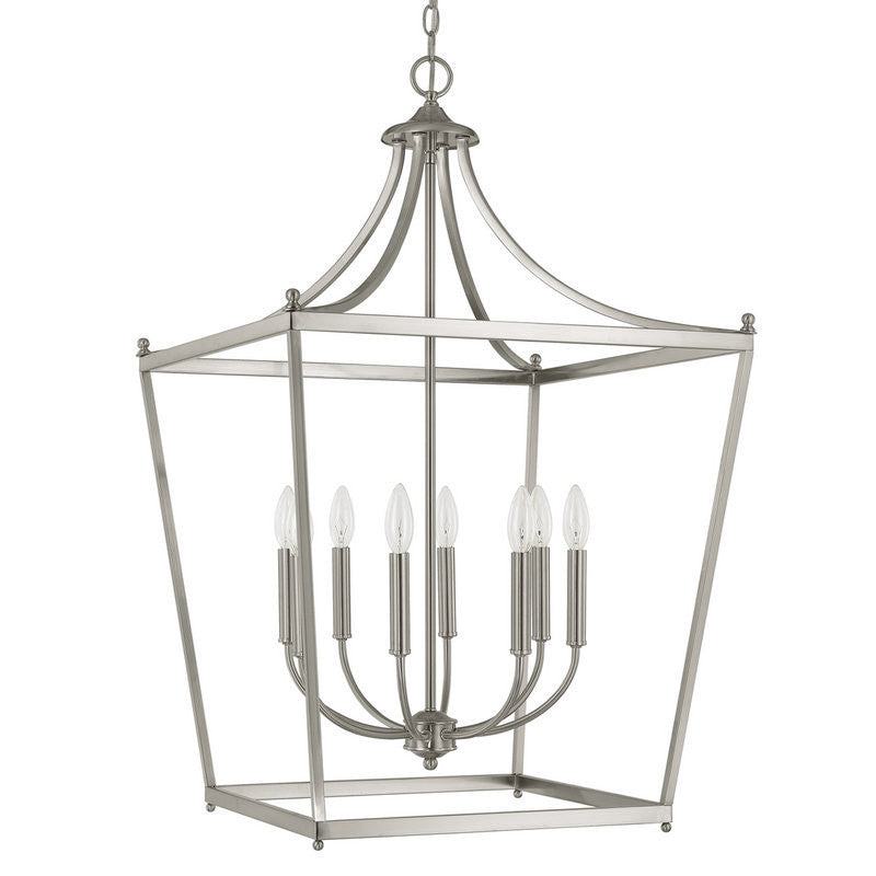 Capital Lighting 8 Light Large Stanton Pendant in Polished Nickel 9553PN