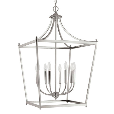 Capital Lighting 8 Light Large Stanton Pendant in Brushed Nickel 9553BN