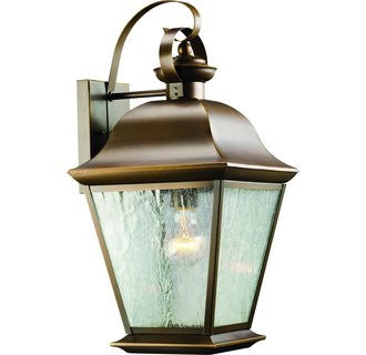 Mount Vernon Outdoor Sconce in Black, by Kichler, 9707OZ