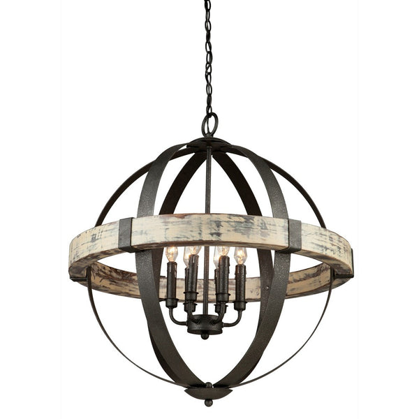 orb light fixture. Castello Black + Wood Orb Chandelier By Artcraft | Lighting Connection Light Fixture