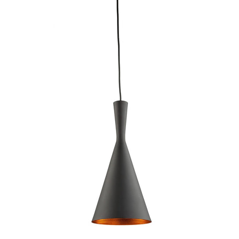 Connecticut 1 Light Pendant in Matte Black and Copper by Artcraft JA800