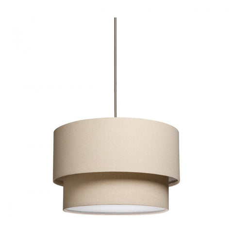 Mercer Street Double Drum Chandelier with Oatmeal Shade by Artcraft SC522OM