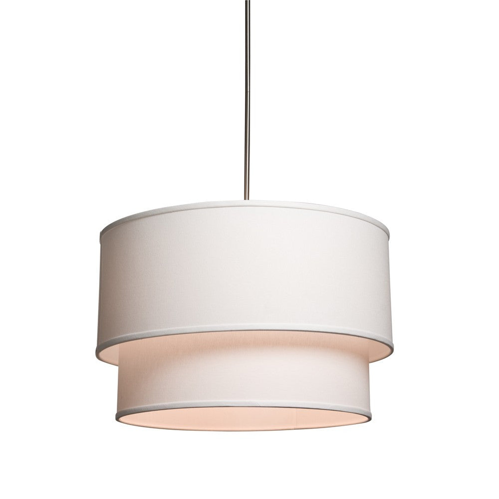 Double-Drum Mercer Street Drum Pendant with White Shade by Artcraft SC522WH