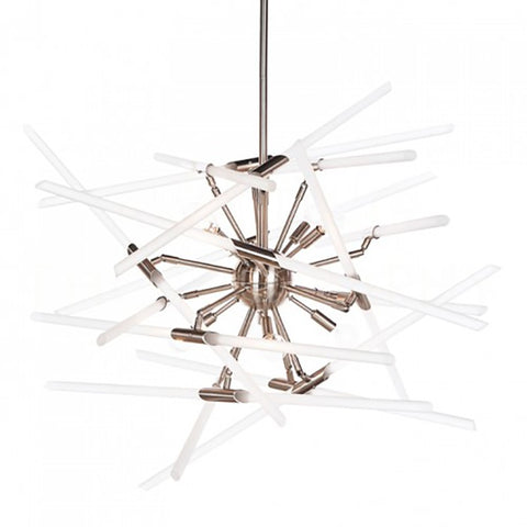 Solitude Chandelier in Nickel with Clear Glass by Aidan Gray L546 CHAN HOM-frosted-8