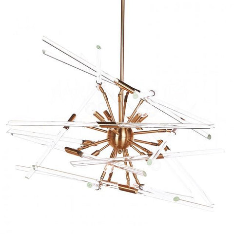 Aidan Gray Solitude Chandelier in Brass with Clear Glass L546 CHAN HOM-clear