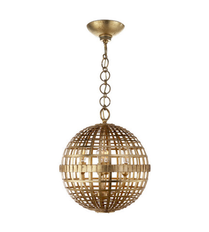 Visual Comfort Small Mill Ceiling Light in Gild designed by Aerin ARN5003G
