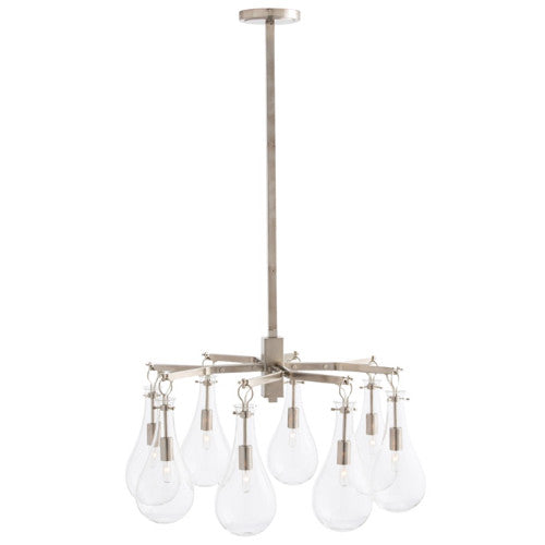 Sabine Chandelier in Polished Nickel Arteriors 49012