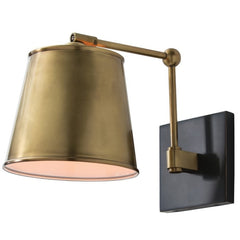 Watson Wall Sconce in Antique Brass and Black by Arteriors Home 49020
