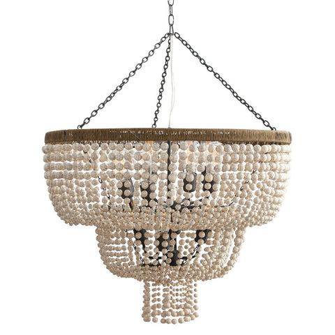 Arteriors Chappellet Chandelier with Ivory Beads and Brass 84621