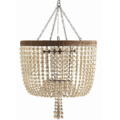 Viola Chandelier in Antique Brass and Ivory by Arteriors Home 86764