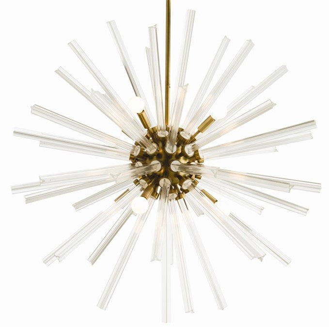 Large Hanley Chandelier in Antique Brass by Arteriors Home 89012