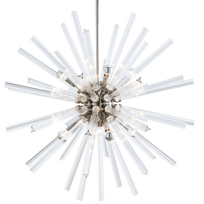 Large Hanley Chandelier in Polished Nickel by Arteriors Home 89013