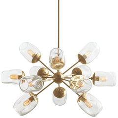 Ramirez Chandelier in Antique Brass by Arteriors 89962