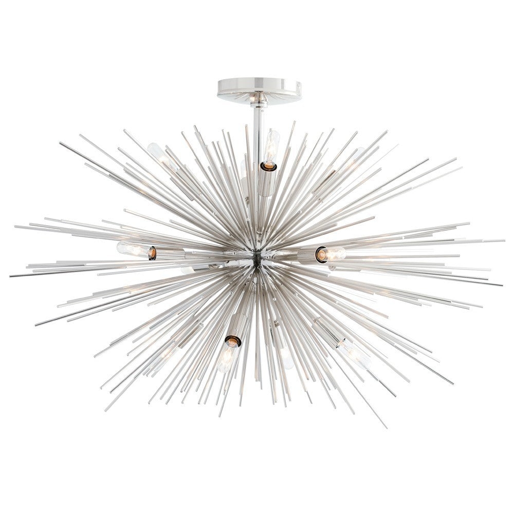 Zanadoo 12 Light Semi-Flush in Polished Nickel by Arteriors Home 89968