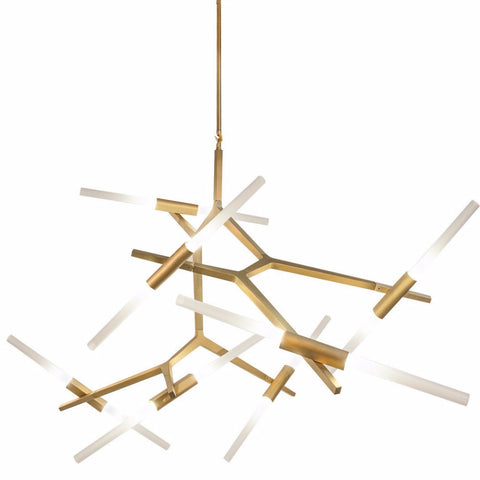 San Vicente 14 light Chandelier by Avenue Lighting in Brushed Brass HF8059-14-BB