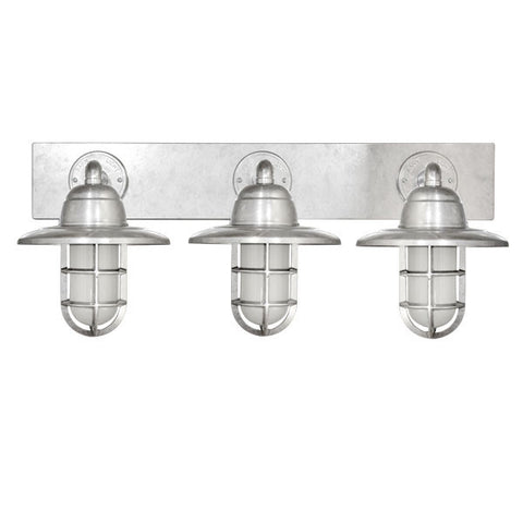 Atomic Galvanized Industrial Vanity Light Lighting Connection Lighting Connection