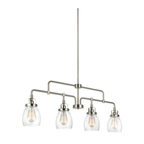 Belton Linear Chandelier in Brushed Nickel, by Seagull Lighting, 6614504-962