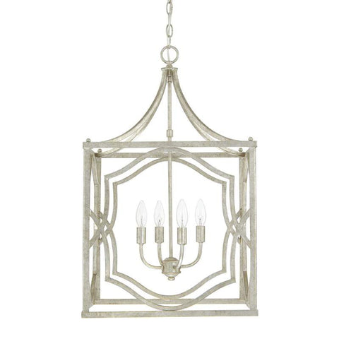 Blakely 4 Light Medium Silver Open Cage Lantern by Capital Lighting 9482AS
