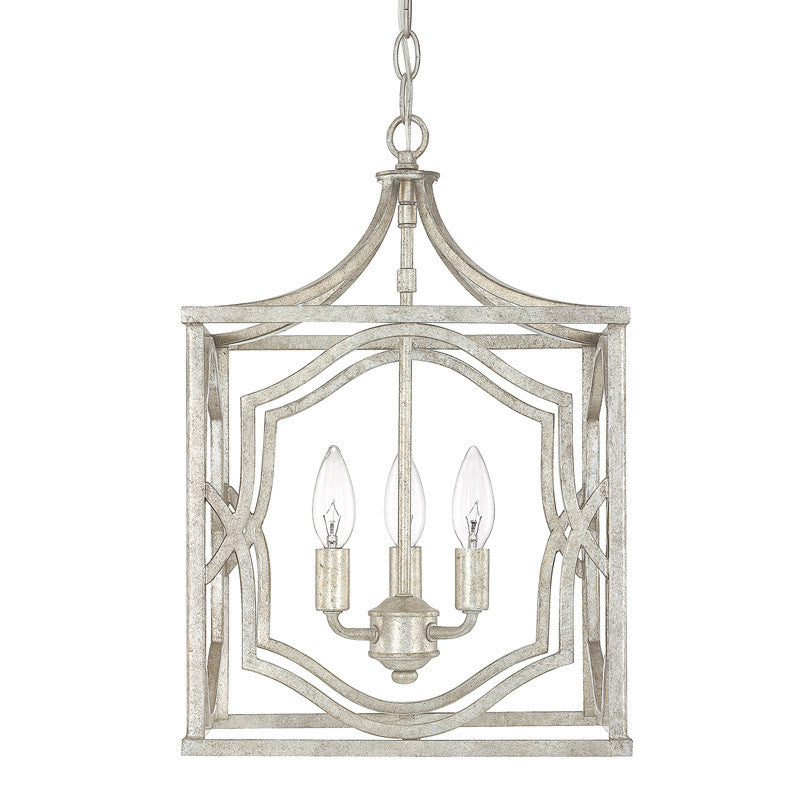 Blakely 3 Light Small Silver Open Cage Lantern by Capital Lighting 9481AS