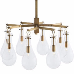Sabine Chandelier in Antique Brass by Arteriors Home 49013