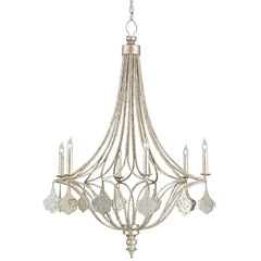 Lavinia Chandelier in Greecian Silver Leaf by Currey and Company