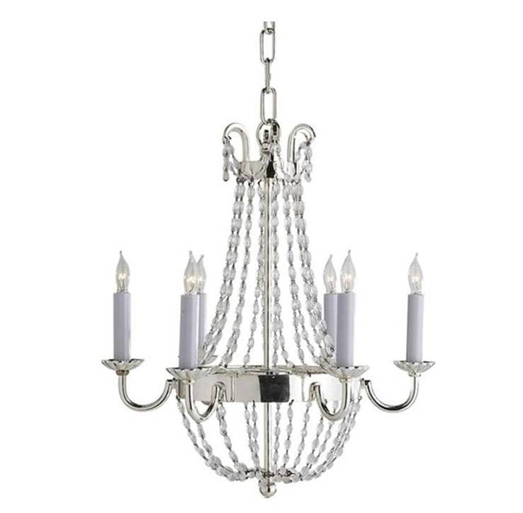 Petite Paris Flea Market Chandelier by Visual Comfort with Polished Silver Finish CHC1407PS-SG