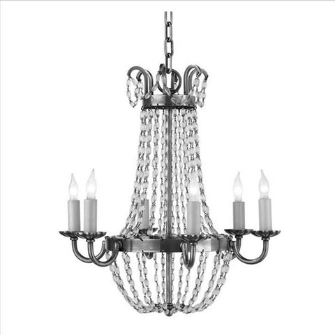 Petite Paris Flea Market Chandelier by Visual Comfort with Sheffield Silver Finish CHC1407SHS-SG