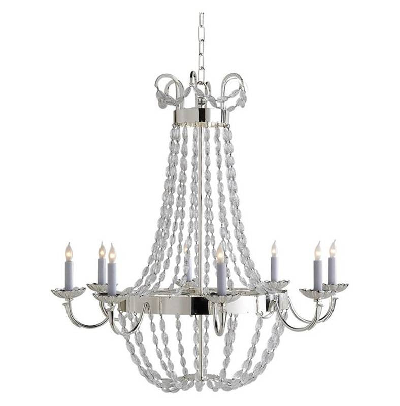 Large Paris Flea Market Chandelier by Visual Comfort with Polished Silver Finish CHC1408AB-SG