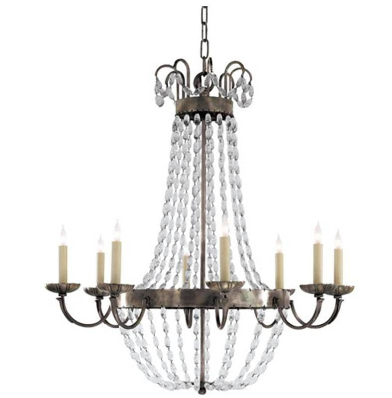 Large Paris Flea Market Chandelier by Visual Comfort with Sheffield Silver Finish CHC1408SHS-SG