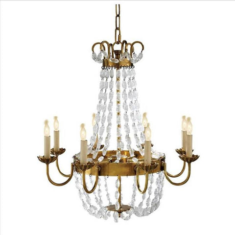 Medium Paris Flea Market Chandelier in Antique Brass Visual Comfort CHC1426AB-SG