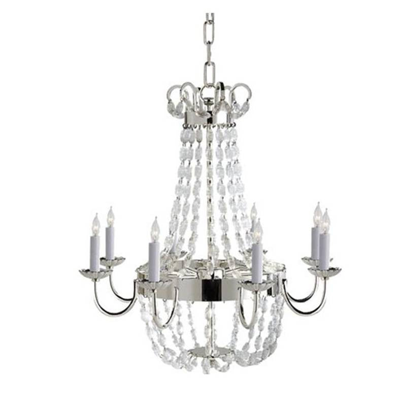 Medium Paris Flea Market Chandelier by Visual Comfort with Polished Silver Finish CHC1426PS-SG