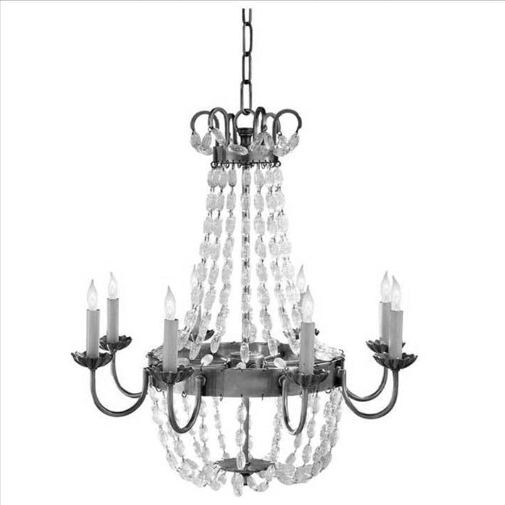 Medium Paris Flea Market Chandelier by Visual Comfort with Sheffield Silver Finish CHC1426SHS-SG