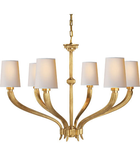 Visual Comfort Ruhlmann Chandelier in Antique Brass CHC2462AB-NP
