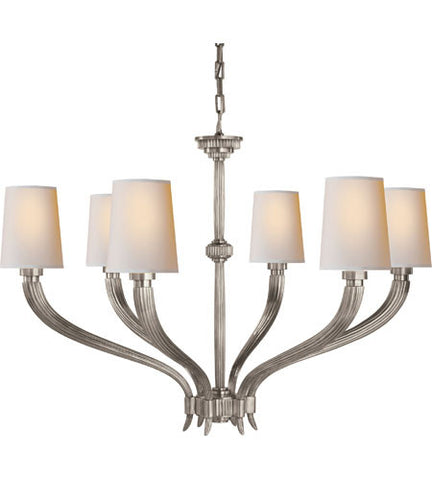 Visual Comfort Ruhlmann Chandelier in Antique Nickel CHC2462AN-NP