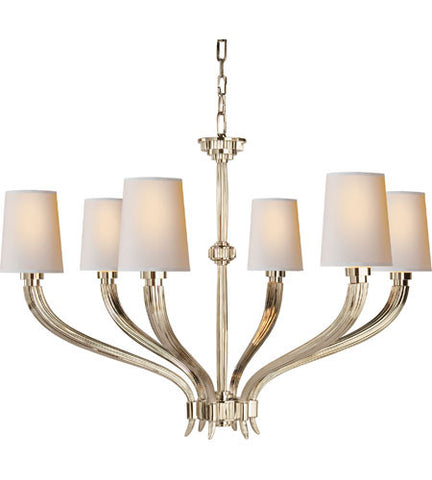 Visual Comfort Ruhlmann Chandelier in Polished Nickel CHC2462PN-NP