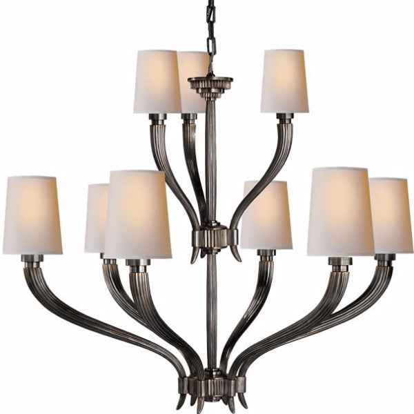 Visual Comfort Ruhlmann Chandelier in Bronze CHC2462BZ-NP