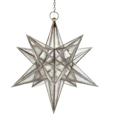 Moravian Star Light with Antique Mirror Glass