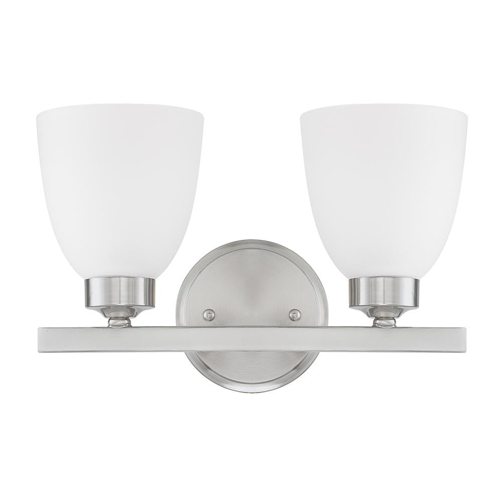 2 Light Jameson Vanity in Brushed Nickel by Capital Lighting 114321BN-333