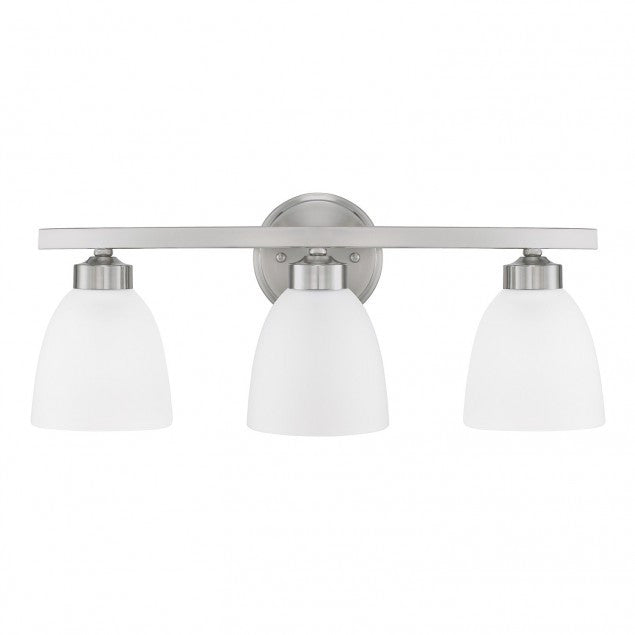 3 Light Jameson Vanity in Brushed Nickel by Capital Lighting 114331BN-333