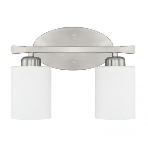 2 Light Dixon Vanity in Brushed Nickel by Capital Lighting 115221BN-338