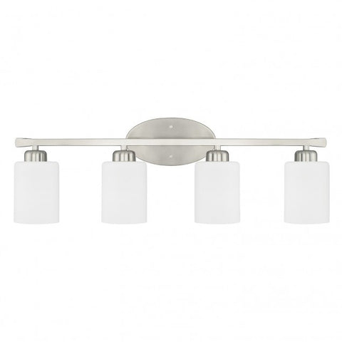 4 Light Dixon Vanity in Brushed Nickel by Capital Lighting 115241BN-338