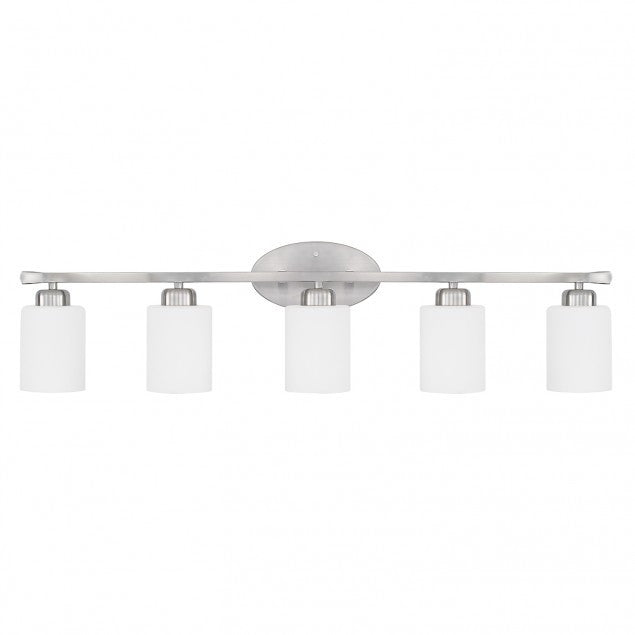 5 Light Dixon Vanity in Brushed Nickel by Capital Lighting 115251BN-338