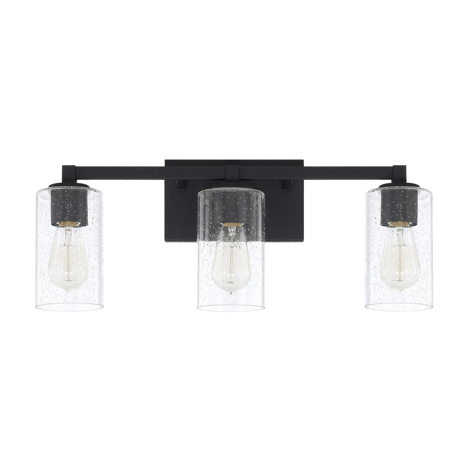 Capital Lighting 3 Light Ravenwood Vanity Light in Black Iron 119831BI-435