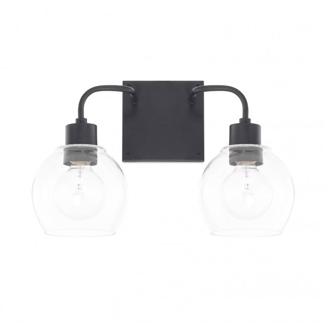 Tanner 2 Light Matte Black Vanity Light by Capital Lighting 120021MB-426