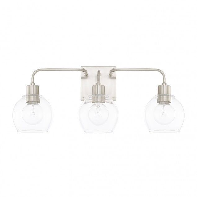 Tanner 3 Light Vanity Light by Capital Lighting in Brushed Nickel 120031BN-426